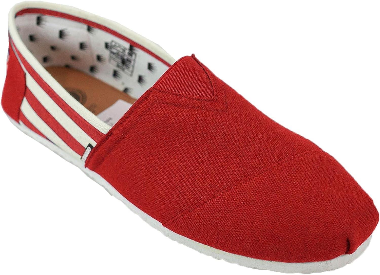 Di Baggio Mens Striped Summer Elasticated Slip On Espadrilles Plimsoll Shoes
