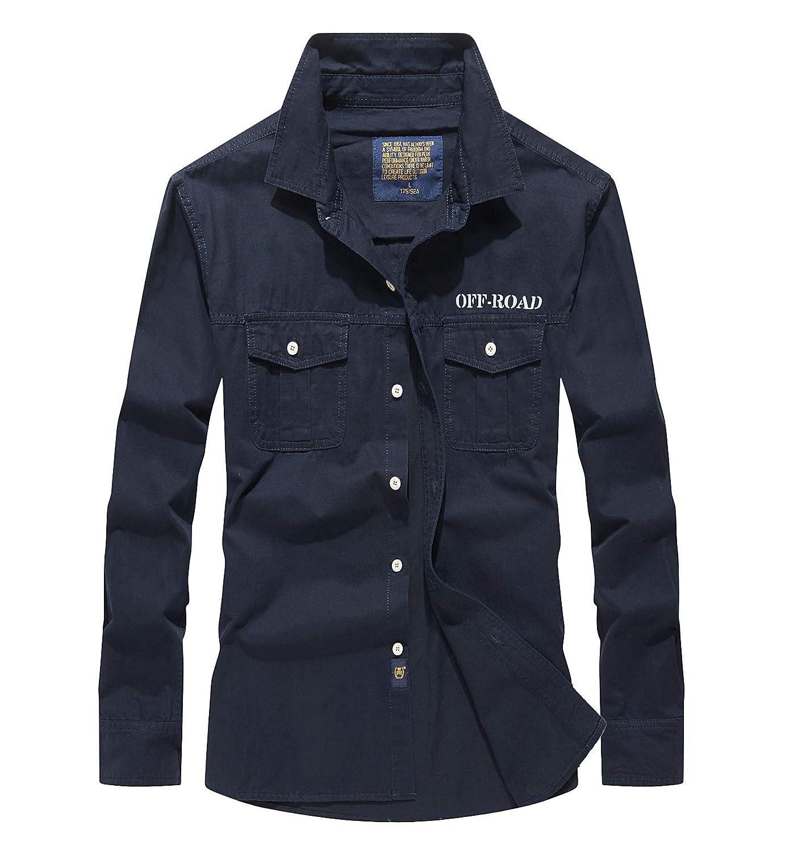 Superora Camisa para Hombre Camisas con Mangas Largas Camiseta Secado Rápido Protección UV Extraíbles Outdoor Work