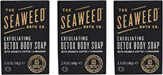 product image for The Seaweed Bath Co. Exfoliating Detox Body Soap (3-pack), Unscented, With Natural Bladderwrack Seaweed, Arabica Coffee, Vegan, Paraben Free, 3x3.75 oz.
