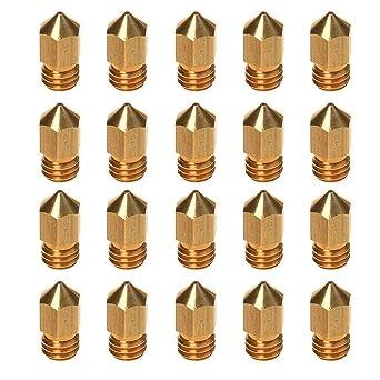 Sedol 20 boquillas de impresora 3D de 0,4 mm, extrusor doble MK8 ...