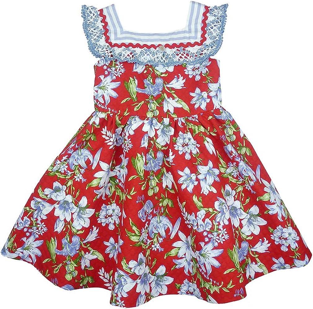Foque - Vestido para niña Rojo de piqué Estampado. con Cuerpo ...