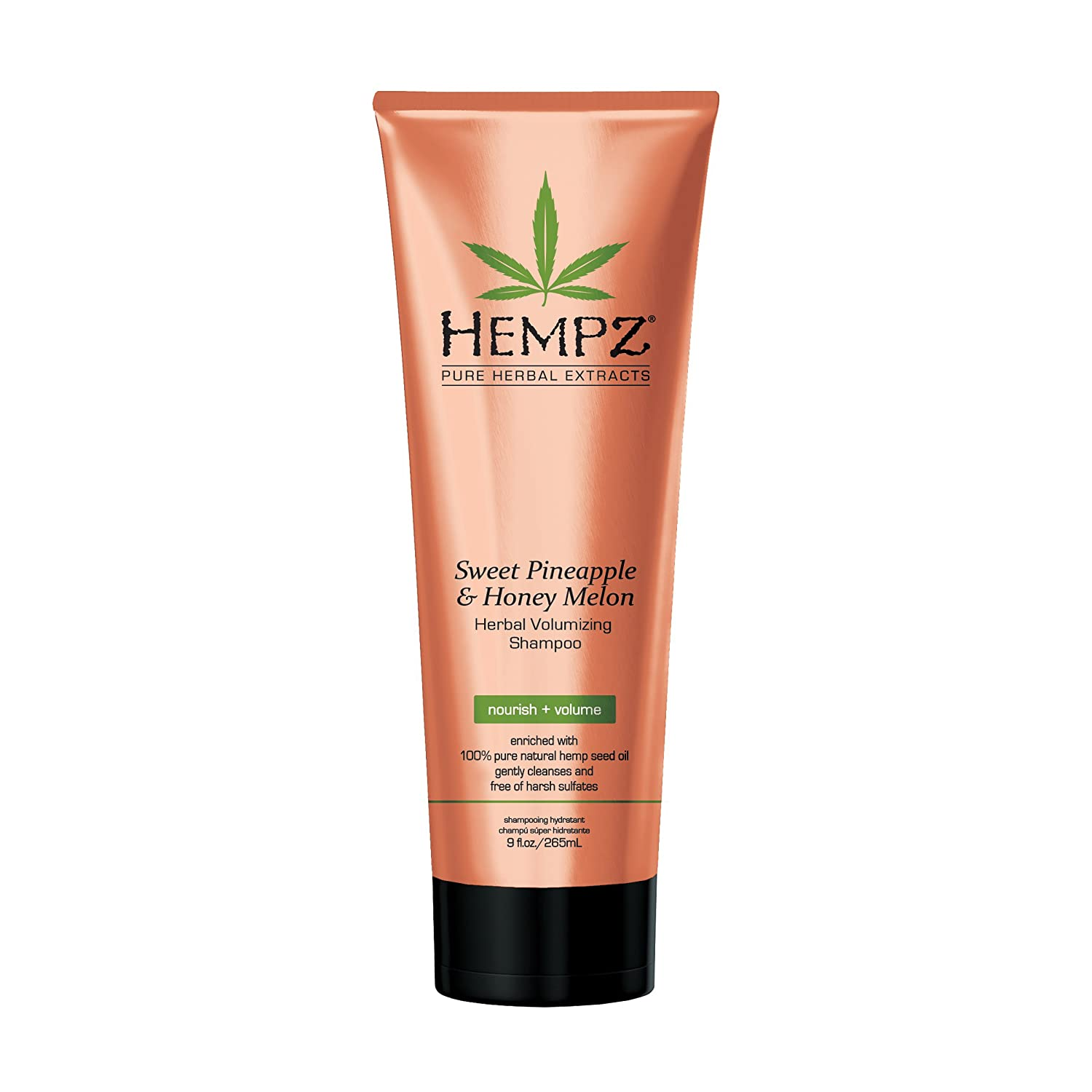 Hempz Sweet Pineapple and Honey Melon Herbal Volumizing Shampoo, 9 oz. - Natural Thickening and Repair Product for Women with Color Treated and Fine Hair, Restorative Shampoos with Volume