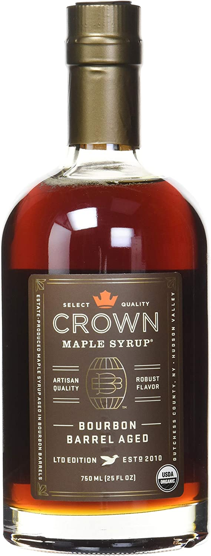 Crown Maple Syrup with Robust Flavor Bourbon Barrel Aged LTD Edition 25 FL OZ