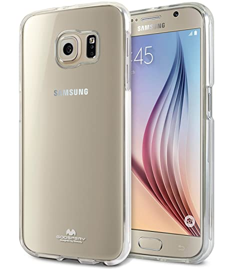 buy popular 0169e c27d7 Galaxy S6 Case, [Thin Slim] GOOSPERY [Flexible] Clear Jelly Rubber TPU Case  [Lightweight] Bumper Cover [Impact Resistant] for Samsung Galaxy S6 ...