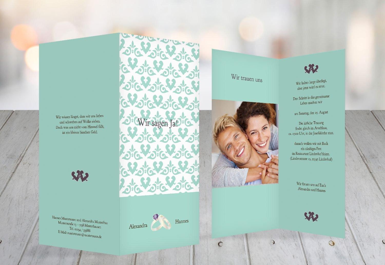 Kartenparadies Kartenparadies Kartenparadies Hochzeitskarte Einladung Ornament mit Herz, hochwertige Einladung zur Heirat inklusive Umschläge   10 Karten - (Format  105x215 mm) Farbe  Rosadunkellila B01N364JW2 | Qualitätsprodukte  | Schöne Farbe  | Günstigstes  58a34c