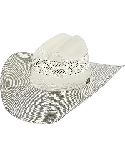 f036403e5b5 Larry Mahan Men s 10X Grey Cinch Straw Cowboy Hat at Amazon Men s Clothing  store