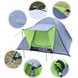 COSTWAY 3-4 Person Outdoor Tent Waterproof Double Layer Portable Dome Durable Camping Hiking Travelling Backpacking