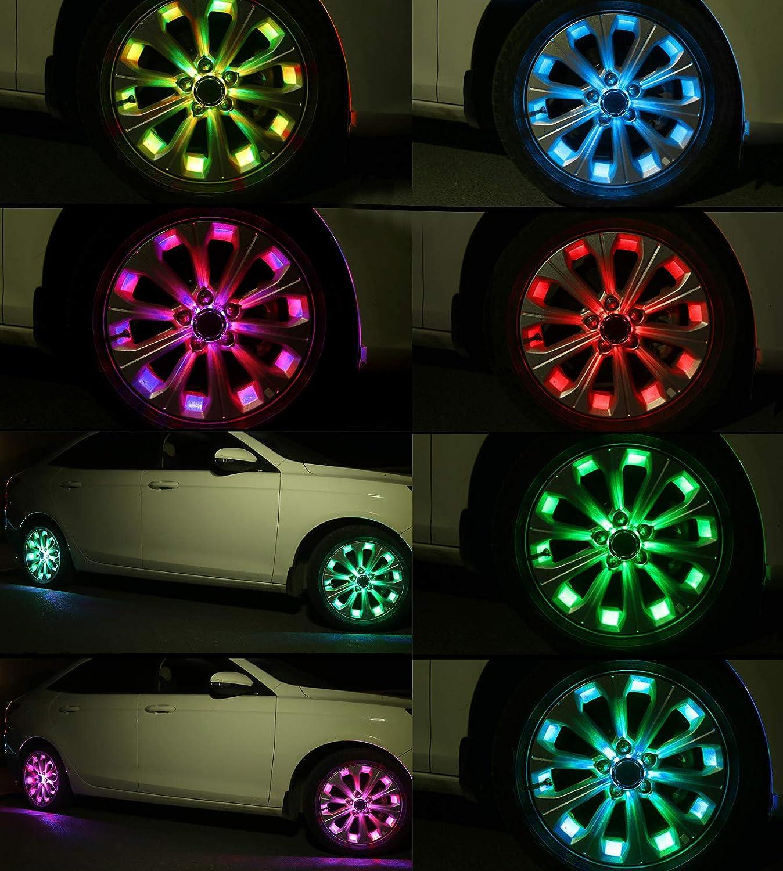 2//4pcs Universal Vehicle Tire Light Led Dragonfly Car Wheel Tyre Decor Tire Lamp