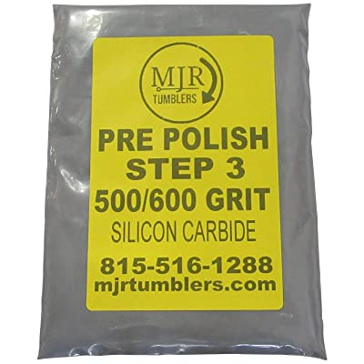 MJR Tumblers 3 LB per Polish 500 600 Silicon Carbide Rock Refill Grit Abrasive Media Step 3 USA: Toys & Games