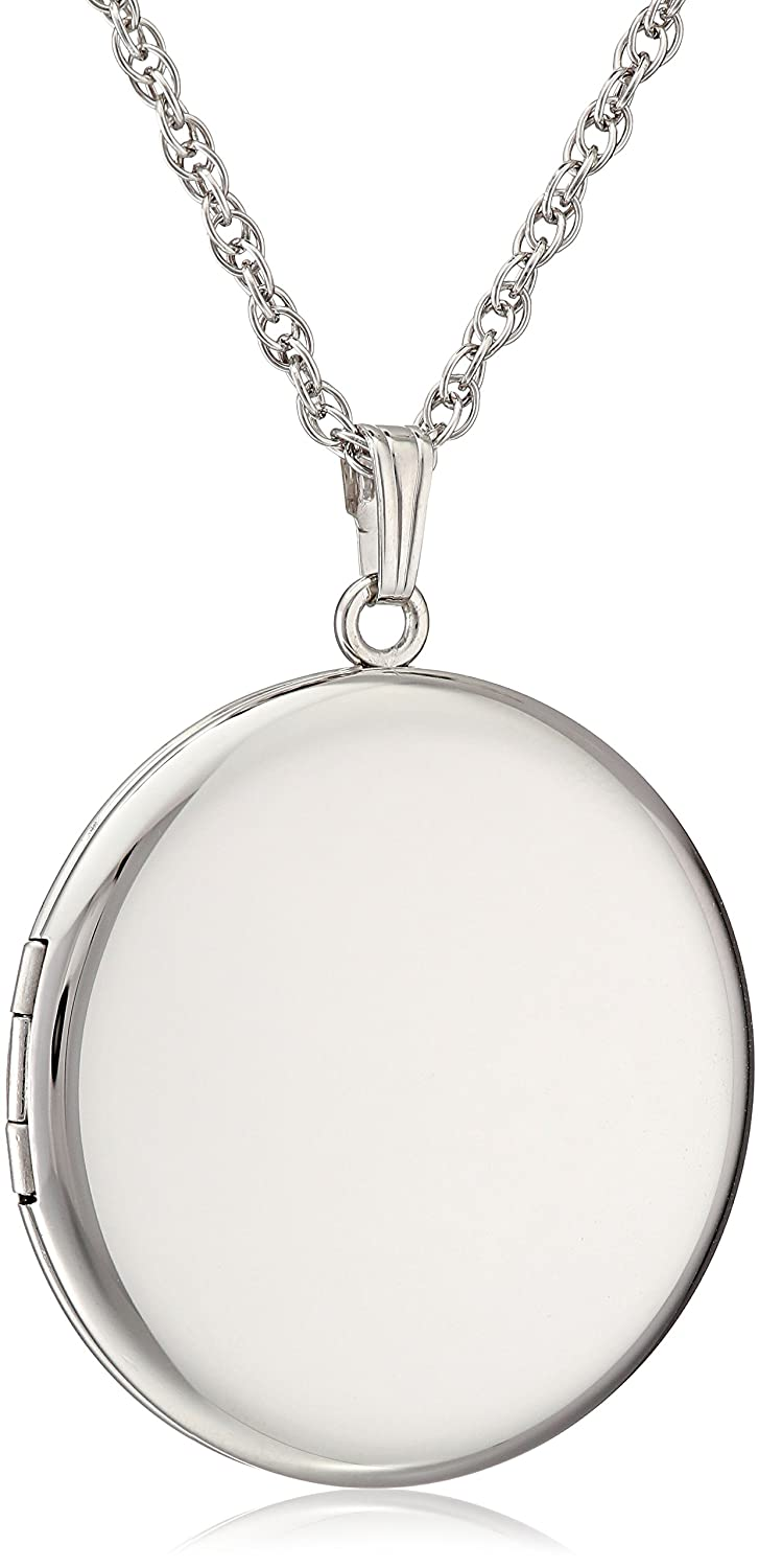 Amazon sterling silver round polished locket pendant necklace amazon sterling silver round polished locket pendant necklace 22 jewelry aloadofball Images