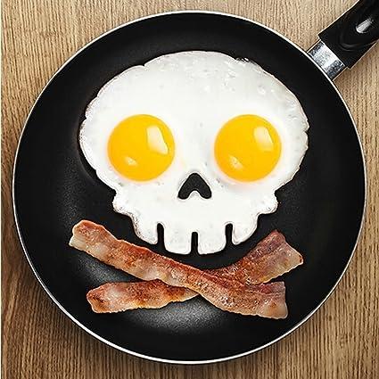 Amazing-trading - Molde para huevos fritos (silicona), diseño de Halloween