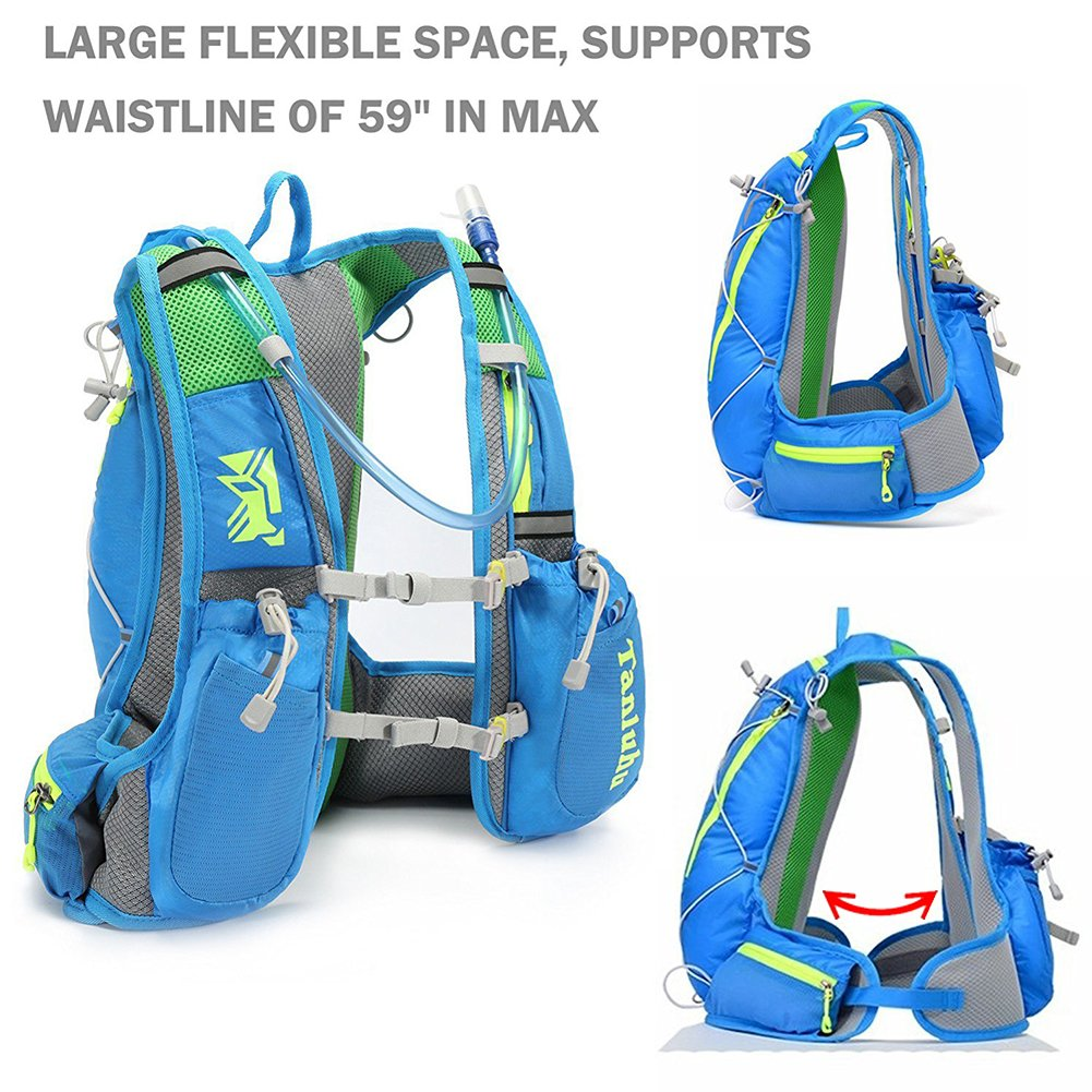 Blacoak Hiking Hydration Backpack blue Climbing Hyadration Pack Waterproof Cycling Water Pack