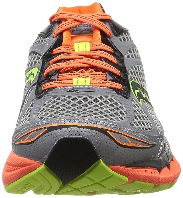 Amazon.com | Saucony Mens Ride 7 Vizi Glo Running Shoe, Silver/Vizi Orange/Citron, 8 M US | Road Running