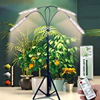 Grow Light with Stand Newest Four-Head Full Spectrum Floor Plant Light, (Newest)