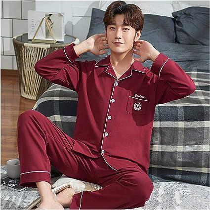 A-YSJ Pijamas Hombre Pijamas Traje para Hombre Pijamas De ...