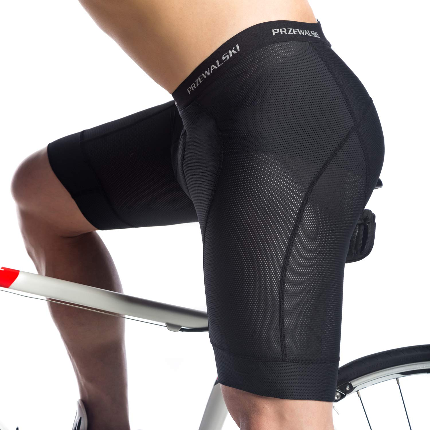 Przewalski Mens Cycling Underwear Shorts 3D Padded Bike Bicycle Riding MTB Liner