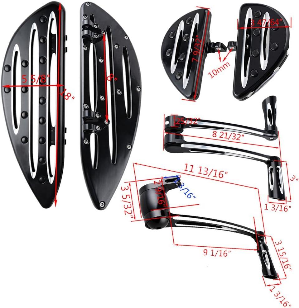 Driver /& Passenger Floorboards Brake Arm Peg Pedal Kit Gear Shift Lever Linkage Compatible with 2009-2013 Harley Touring FLH FLT Toe Heel Shift Lever Shifter Peg
