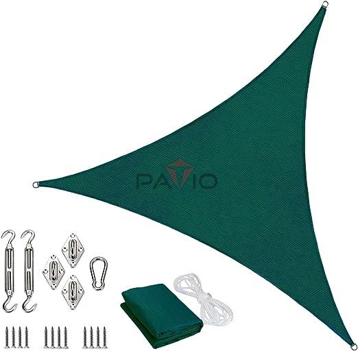 Toldo con Kit de Hardware, triángulo equilátero: Amazon.es: Jardín