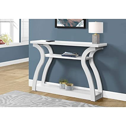 Awe Inspiring Amazon Com White Long Hall Console Accent Table 47 In Machost Co Dining Chair Design Ideas Machostcouk