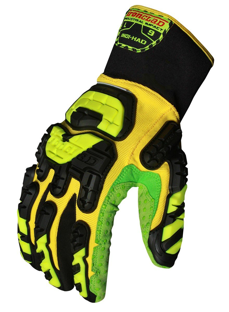 Ironclad INDI-HAD-04-L Industrial Impact High Abrasion Dexterity Gloves, Large