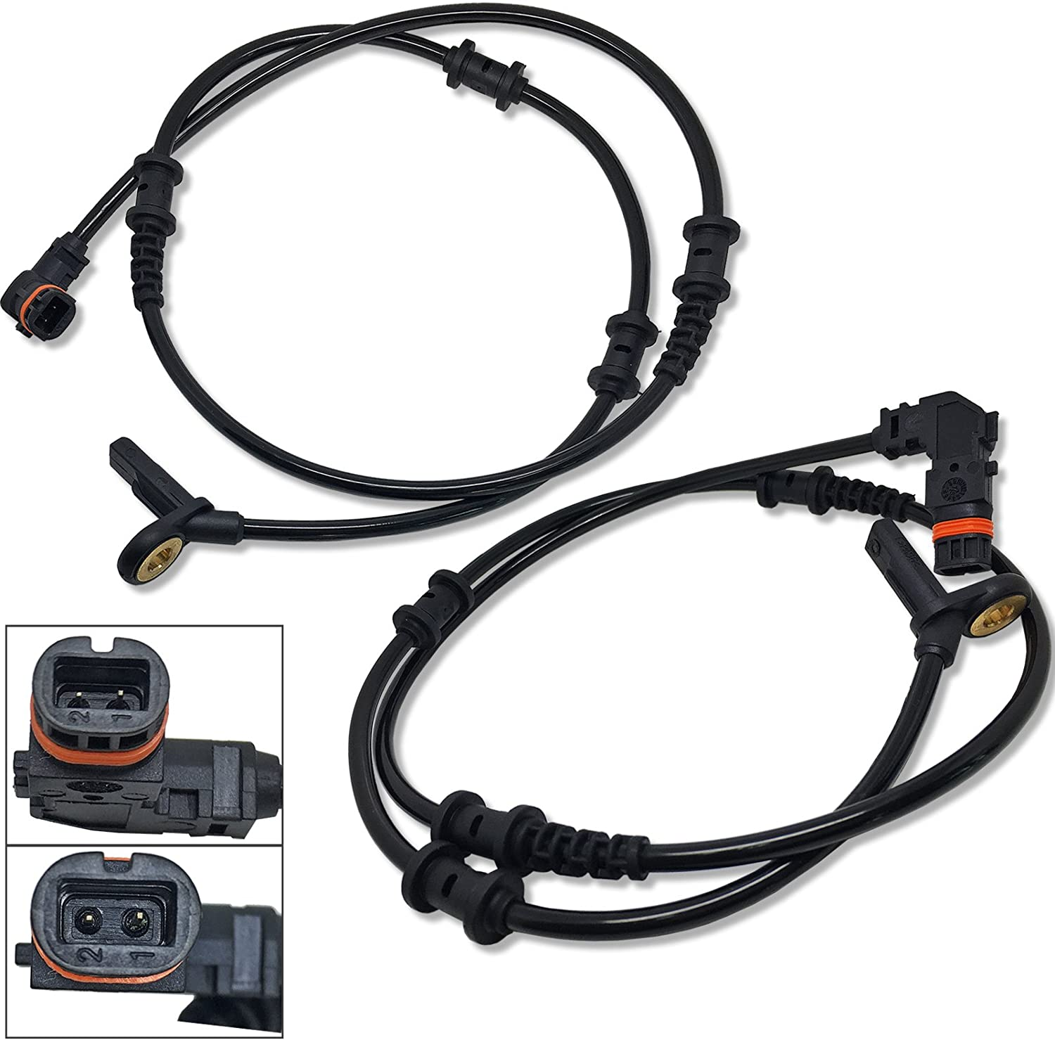 RAYC 4Pcs Front Rear ABS Wheel Speed Sensor 1645400717 1645400917 for ML320 ML350 ML450 ML500 ML550 ML63 AMG R320 R350 R500 R63 AMG W164 GL320 GL350 GL450 GL550