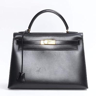 459c59fd4b03  エルメス  HERMES ケリー32 ハンドバッグ 外縫い ブラック(金具:ゴールド) ボックス