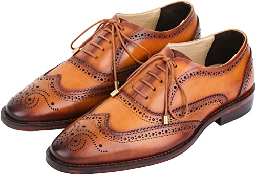 Genuine Leather Lace up Dress Shoes