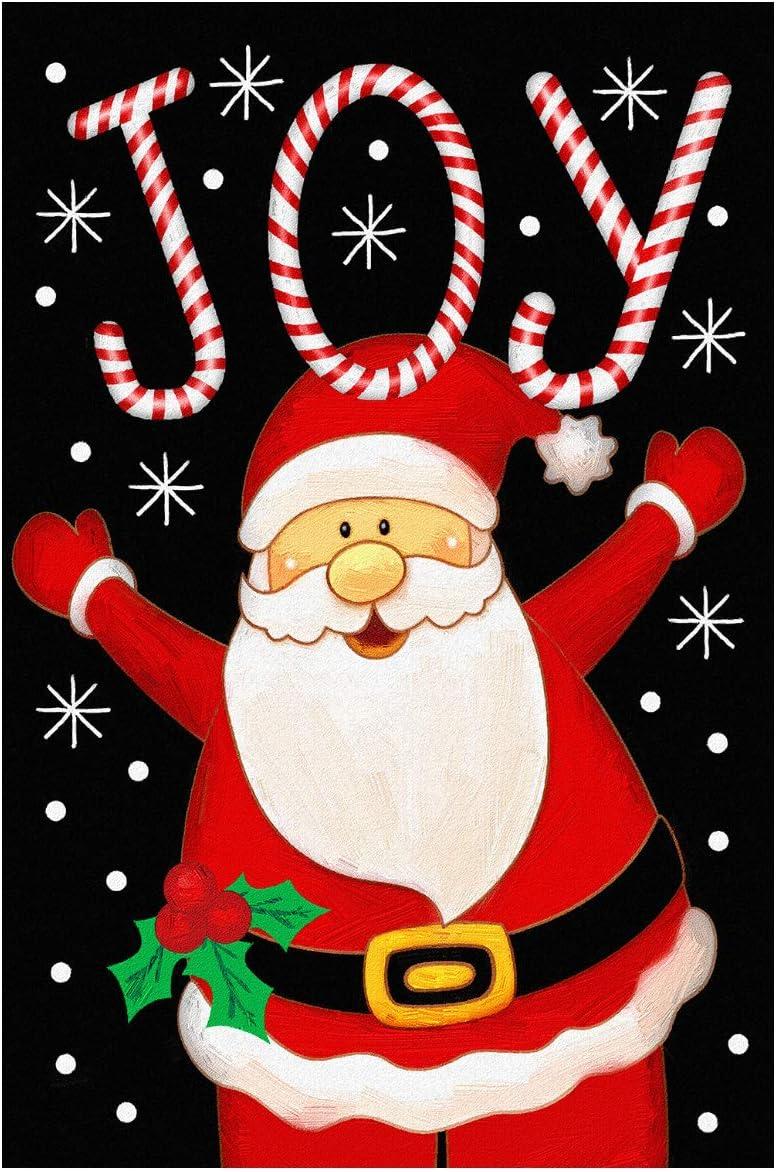 "Texupday Merry Christmas Santa Joy Decoration Double Sided Winter Garden Flag Outdoor Yard Flag 12"" x 18"""