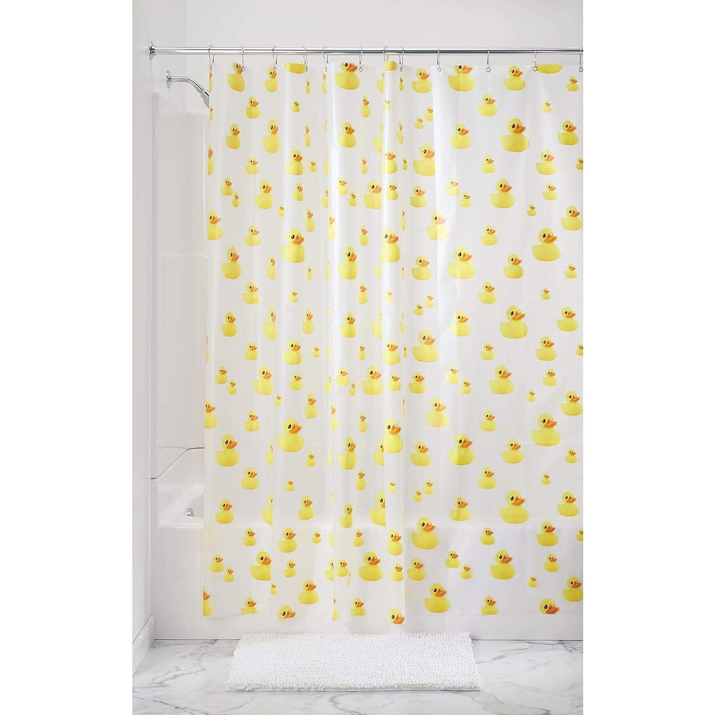 Amazon InterDesign PVC Free Waterproof Ducks Shower Bathroom Curtain