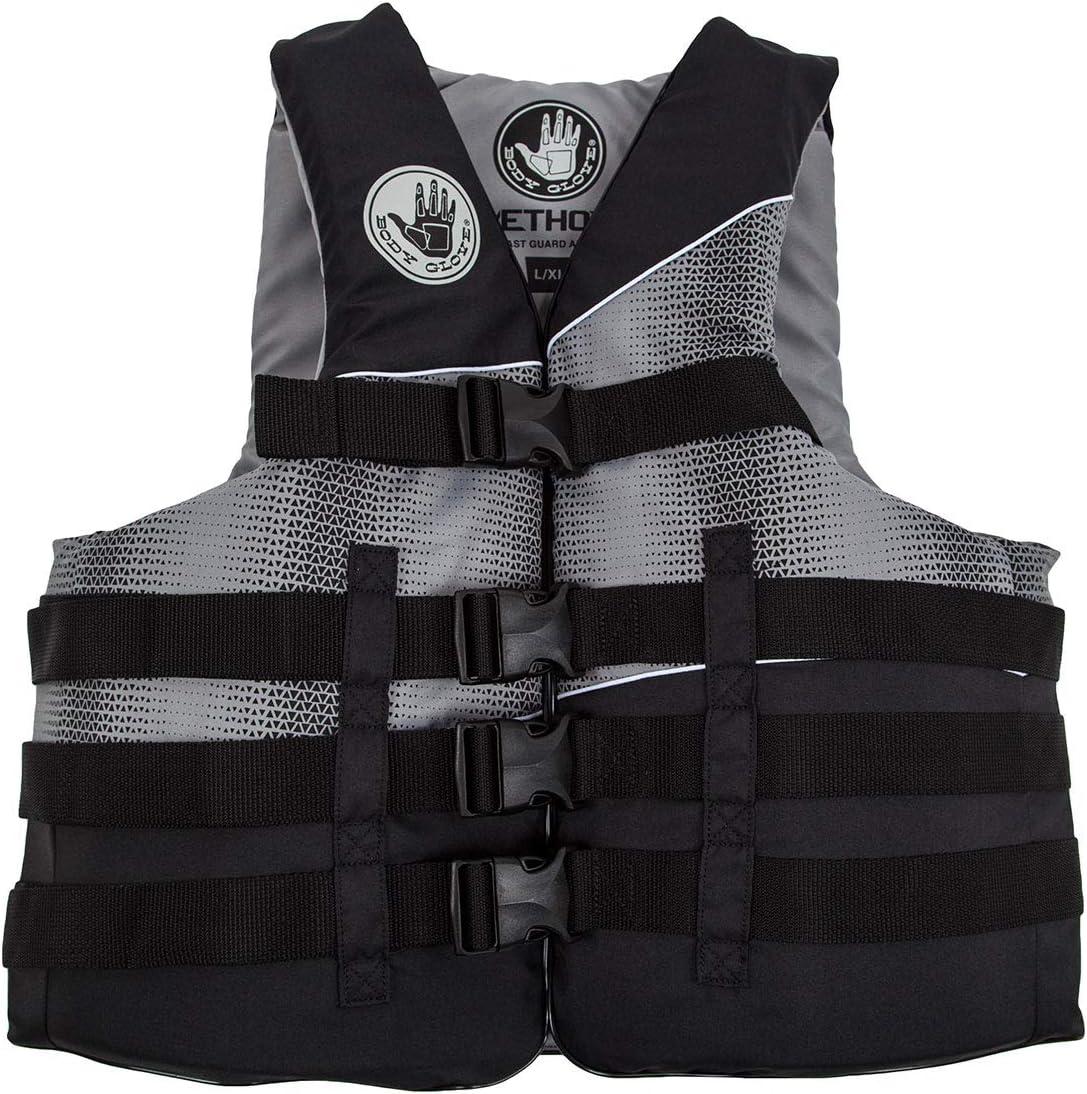 Body Glove Mens Method Life PFD Jacket, Black, Small/Medium