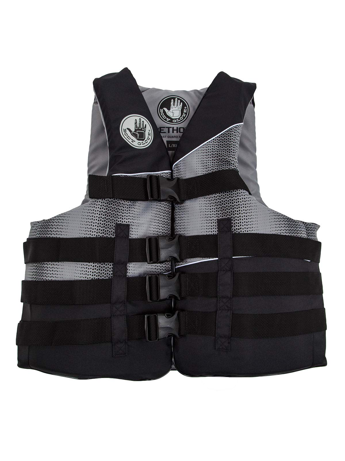 Body Glove Method USCG Approved Nylon Life Vest, X-Small, Black/Silver/Silver/Grey