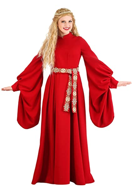Amazon.com Adult Princess Bride Costume Red Medieval Dress