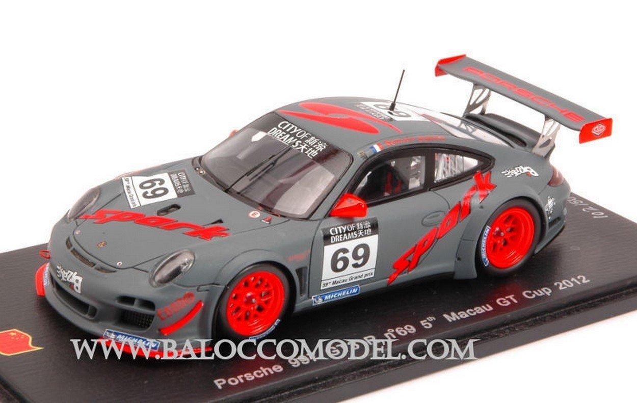 Spark Model SA027 Porsche 997 GT3 R N.69 5th Macau GT Cup 2012 Romain Dumas 1:43