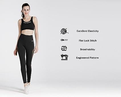 5560ce7310e90 Amazon.com  NIOFEI Women s Power Flex Mesh Yoga Pants Sports Workout  Leggings for Women S  Sports   Outdoors