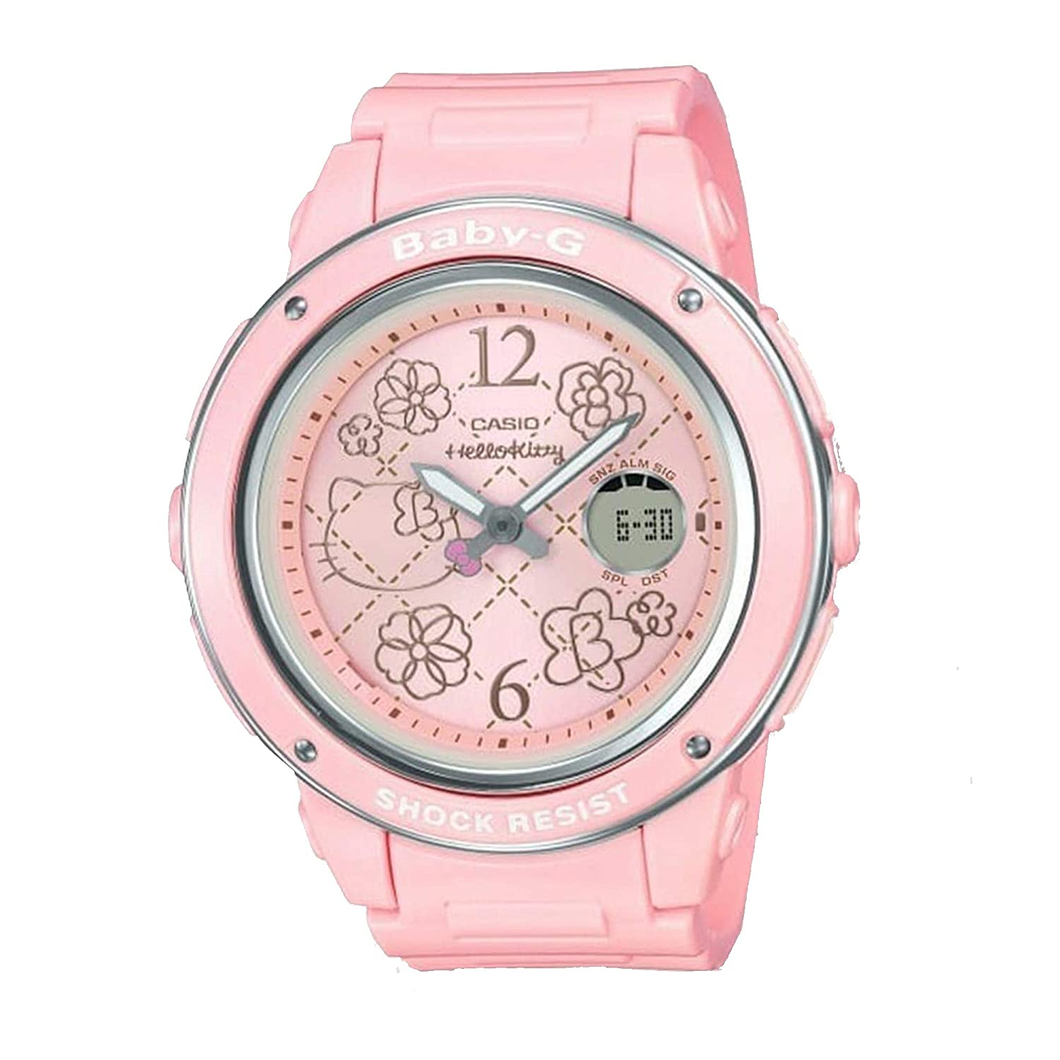 Amazon.com: Casio Baby-G Hello Kitty 2019 Edition White and Pink Watch BGA-150KT-7BCR: Watches