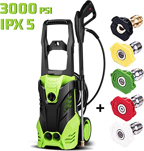 Homdox 3000 PSI Pressure Washer Electric 1800W High Pressure Power Washer Machine