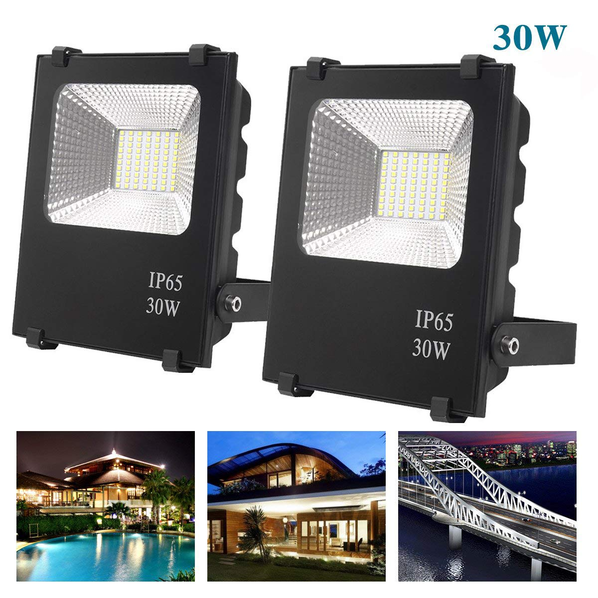 200W LED Floodlights Cool White Outdoor Garden Wall Security Flood Light 220V