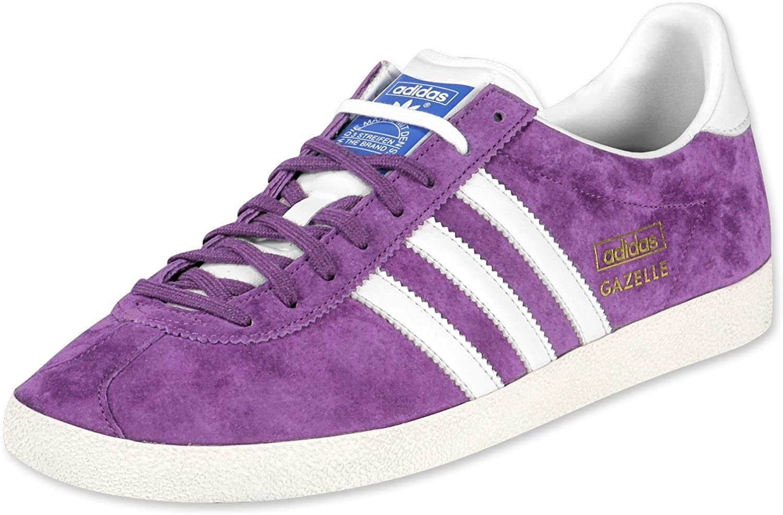 adidas Originals Men's Gazelle OG Low-Top Sneakers Purple Size: 8 ...