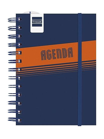 Finocam Mini Institut - Agenda 2018-2019 1 día página gallego, 120 x 169 mm, azul