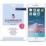 iPhone 8 Plus Screen Protector [2-Pack], iLLumiShield Blue Light Screen Protector for iPhone 8 Plus HD Shield with Anti-Bubble & Anti-Fingerprint UV-Filter Film