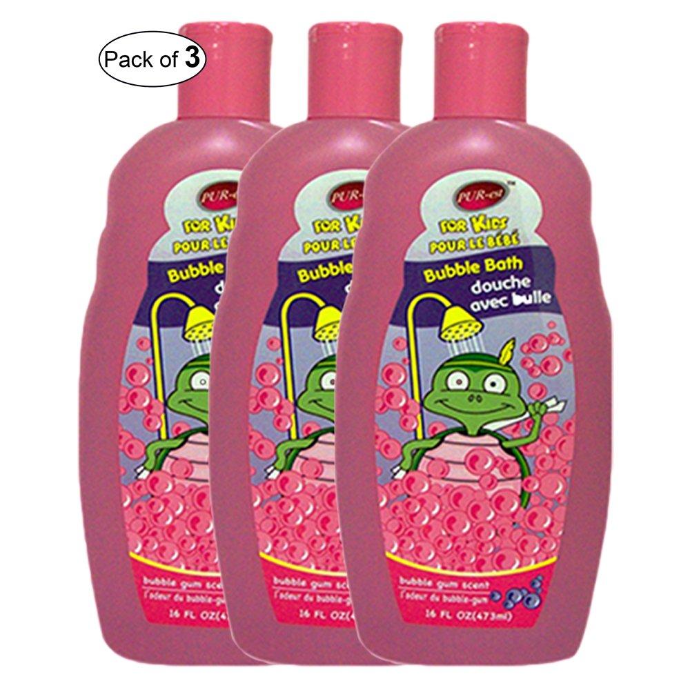 Purest Kids Bubble Bath With Bubble Gum Scent (473ml) (Pack of 3)