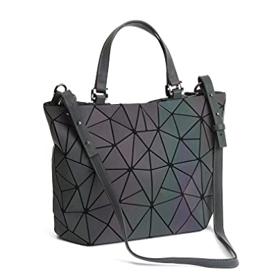 c8de0afd0459 Geometric Luminous Purses and Handbags Holographic Purse Lumikay Bag  Reflective Leather Irredescent Tote