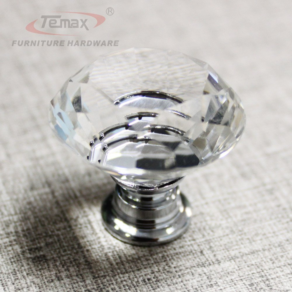 Temax Glass Crystal Sparkle Cabinet Drawer Cupboard Door Pulls ...