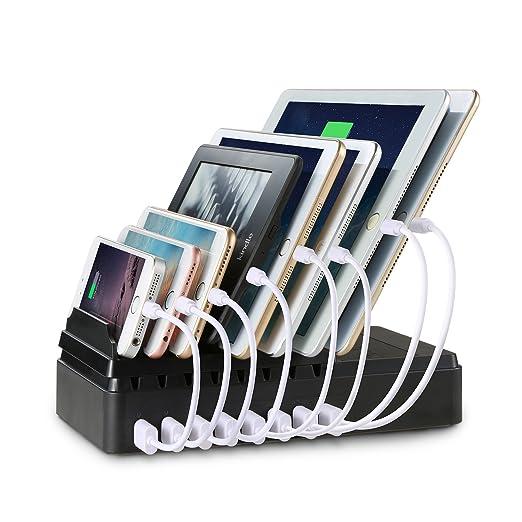 10 opinioni per Stazione di Ricarica Upow, con 8 Porte USB di Carica, Docks [68W/2.4A Max]