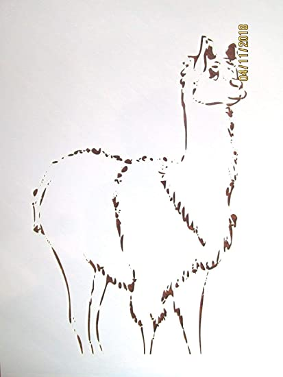 amazon com outletbestselling reusable sturdy llama stencil template