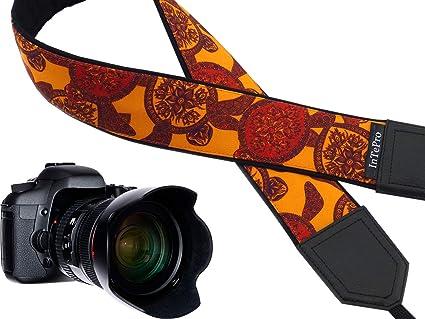 Correa de cámara Tortuga. Rojo y Naranja Correa de cámara réflex ...