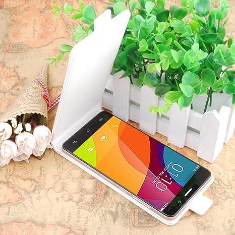 Pretty Box Prevoa ® 丨Original Flip PU Case Cover Funda para Cubot X9 Smartphone - - Blanco