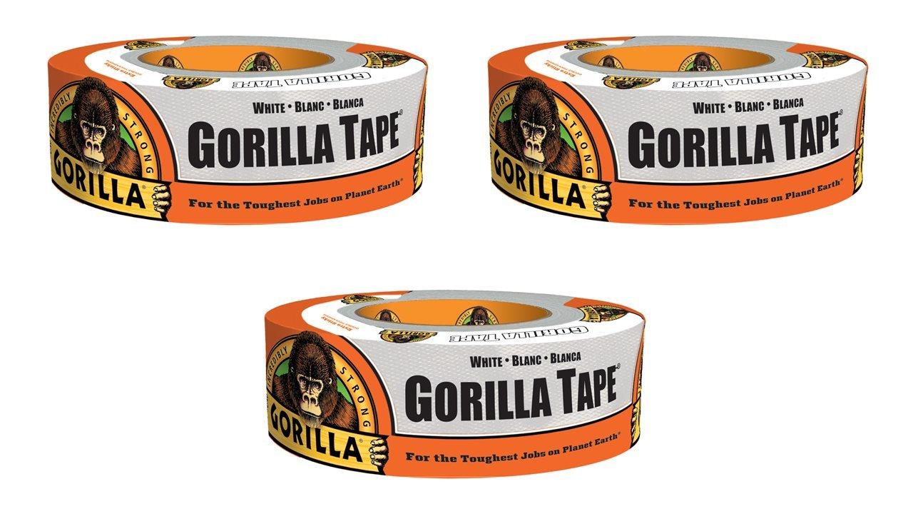 """Gorilla 6025001 Duct Tape 1.88/"""" x 30 Yard 2//Pack WHITE"""