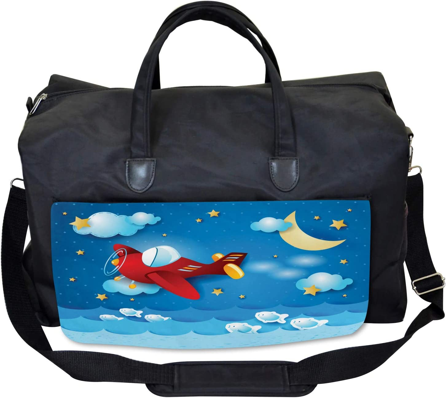 Large Weekender Carry-on Ambesonne Moon Gym Bag The Moon and the Stars