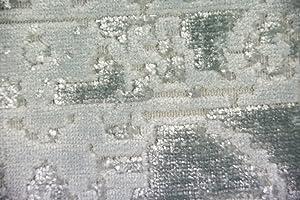 Merinos Tappeto Design Tappeto Moderno da Salotto Vintage con Frange in Turchese Crema Größe 200 x 290 cm